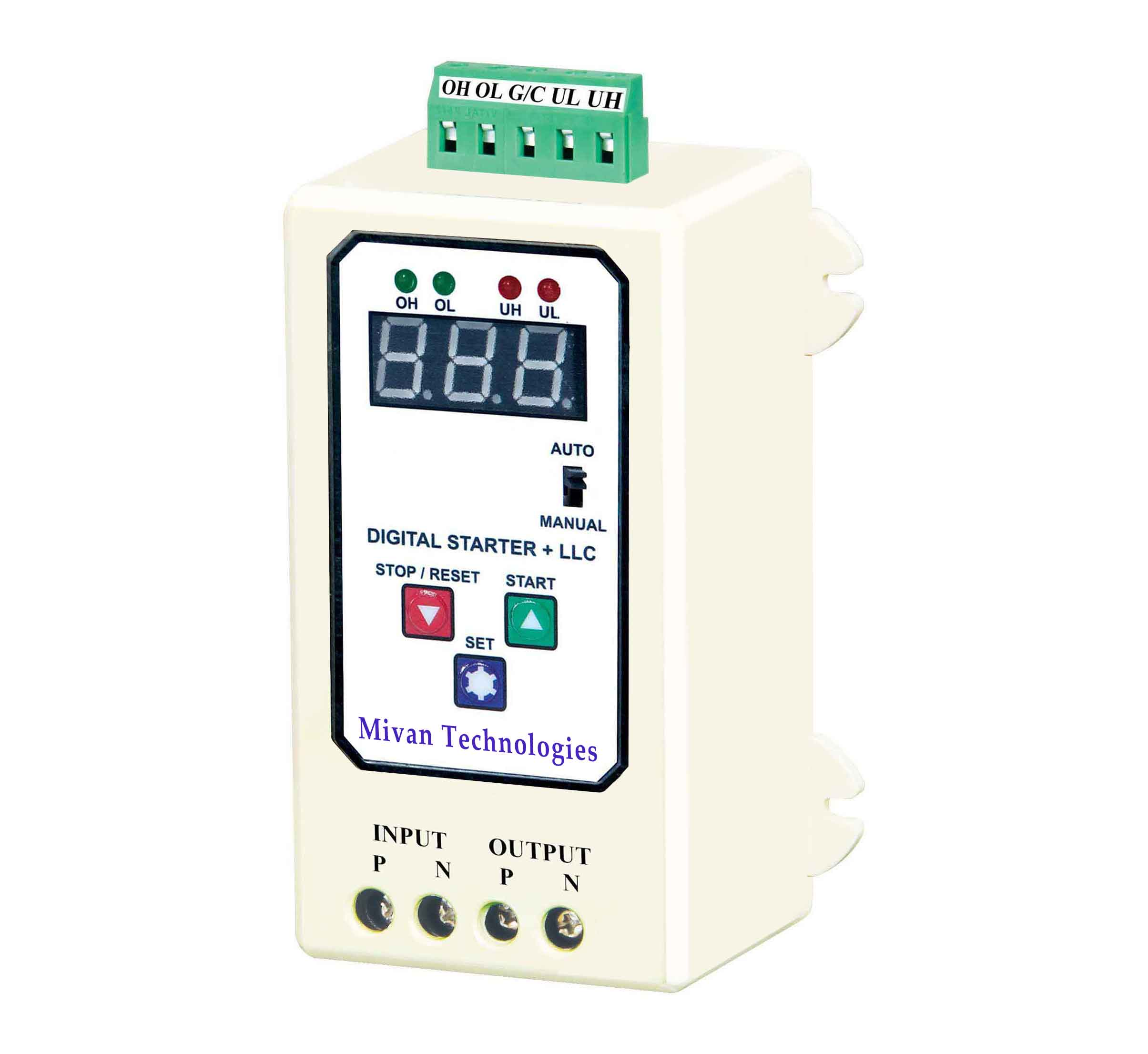DSL Digital water level controller with volt and amp miter with high low voltage protection