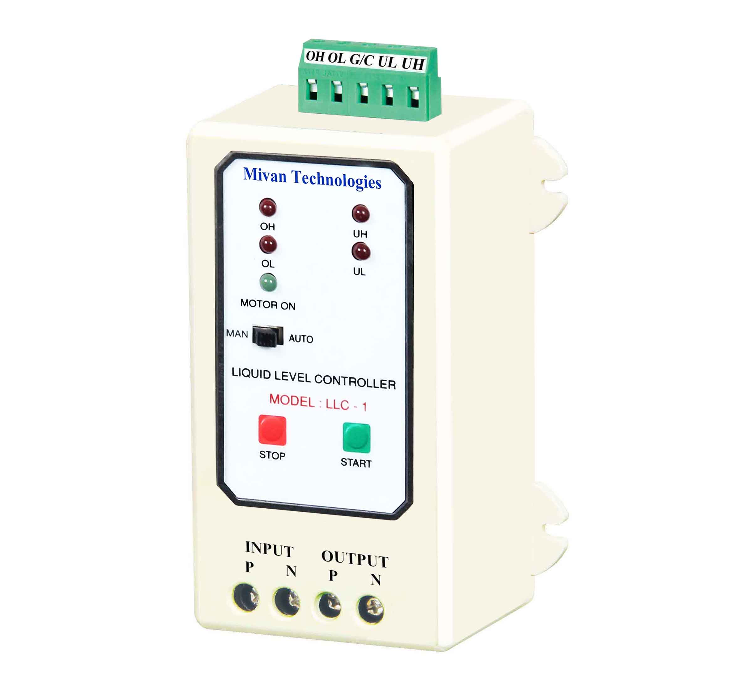 LLC 1 ABS Fully Automatic Water Level Controller and Indicators For Up and Down Tank With 6 Sensors Suitable For Motor Up to 5Hp Supply 230 VAC