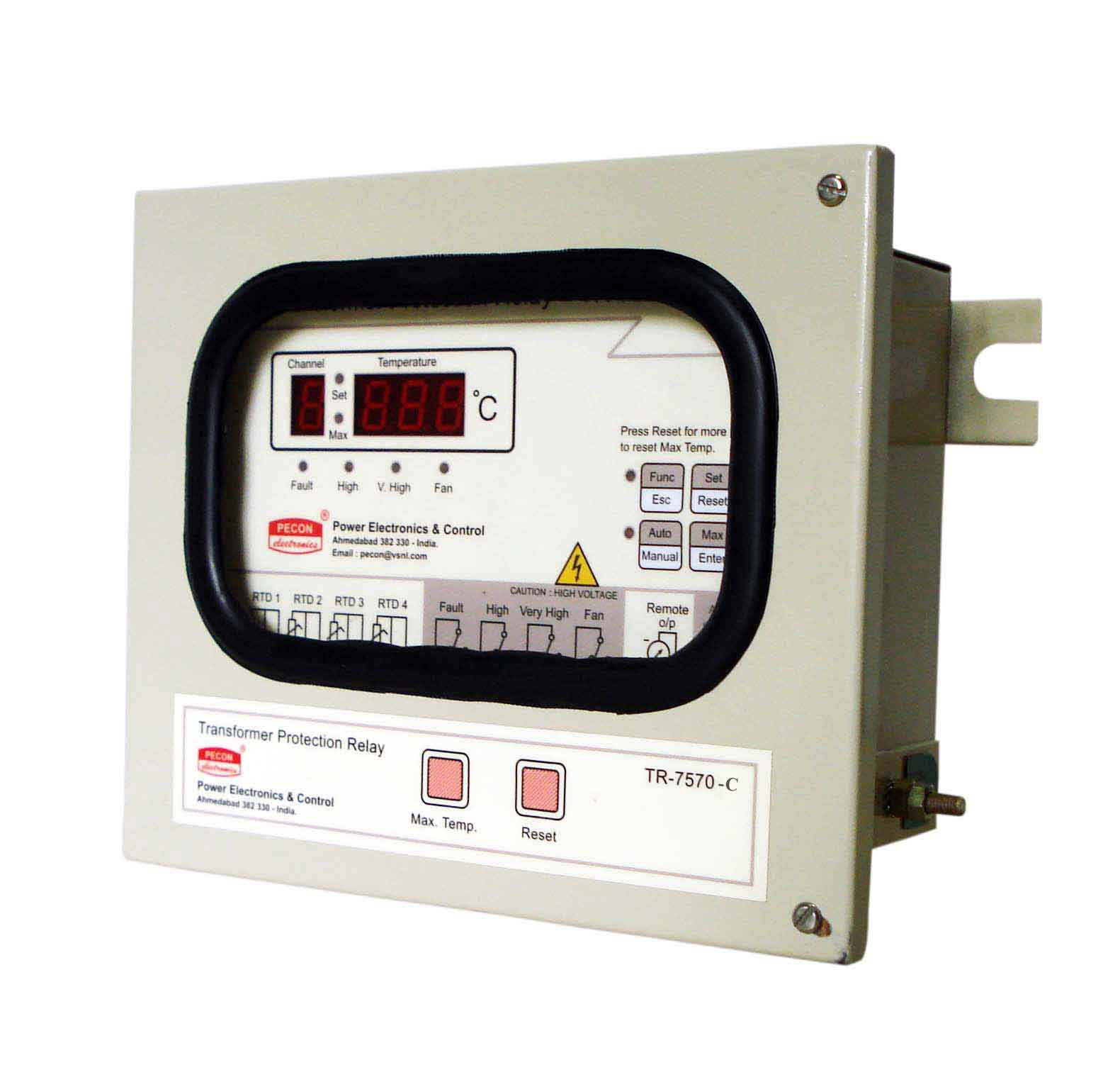 TR 7570 C Four channel temperature scanner with RS485 Remote output Transformer Protection Relay