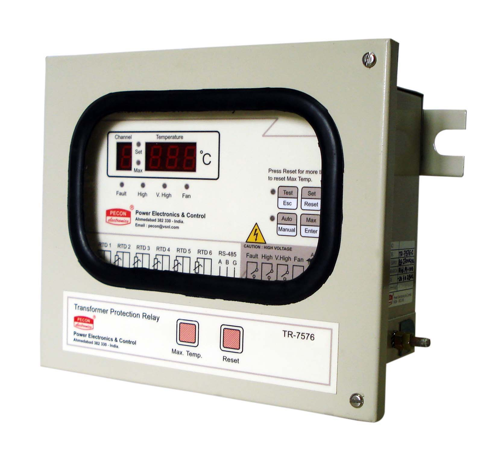 TR 7576 Six channel temperature scanner with 4 to 20 mA remote output Transformer Protection Relay