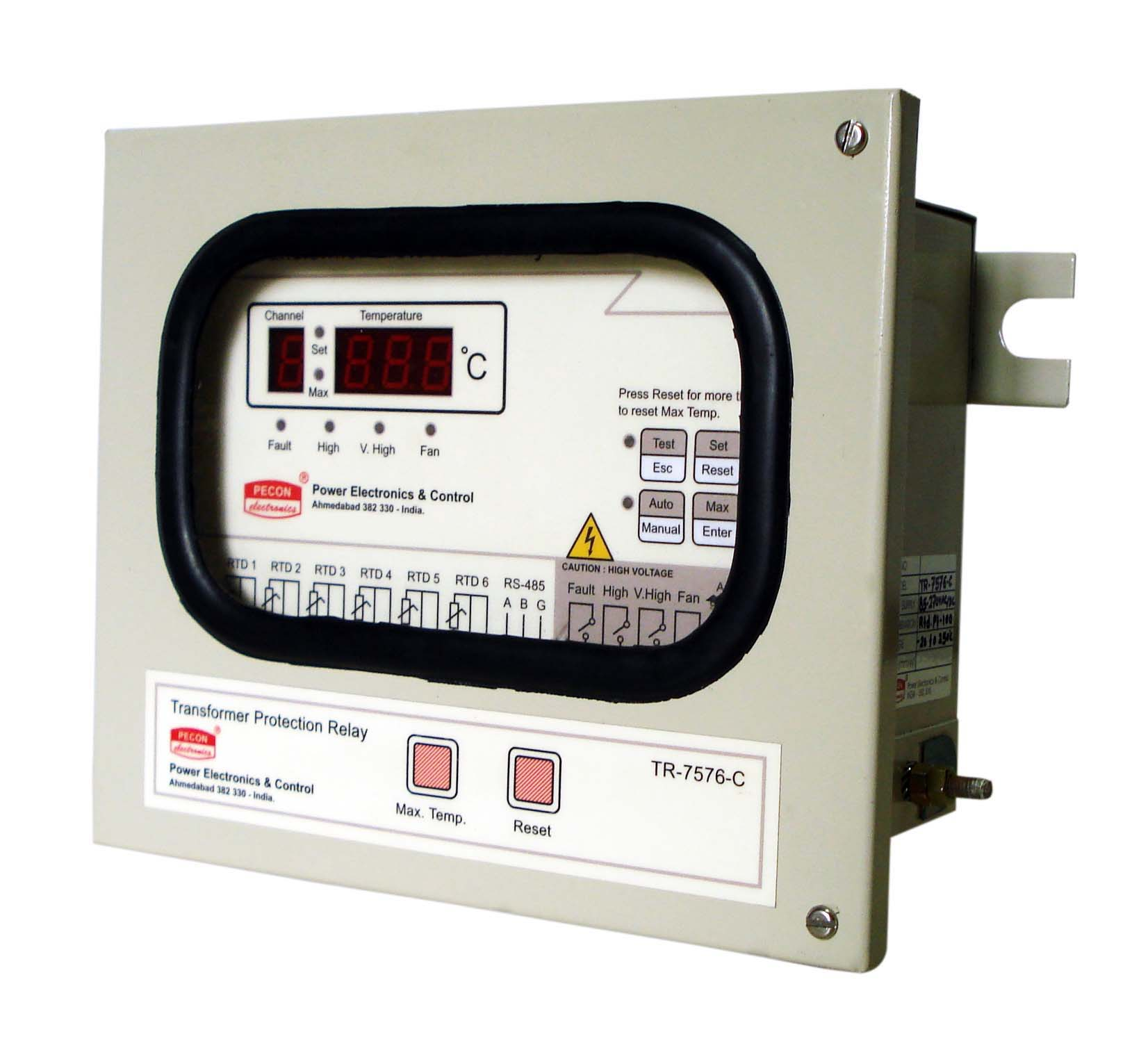 TR 7576 C Six channel temperature scanner with RS485 remote output Transformer Protection Relay