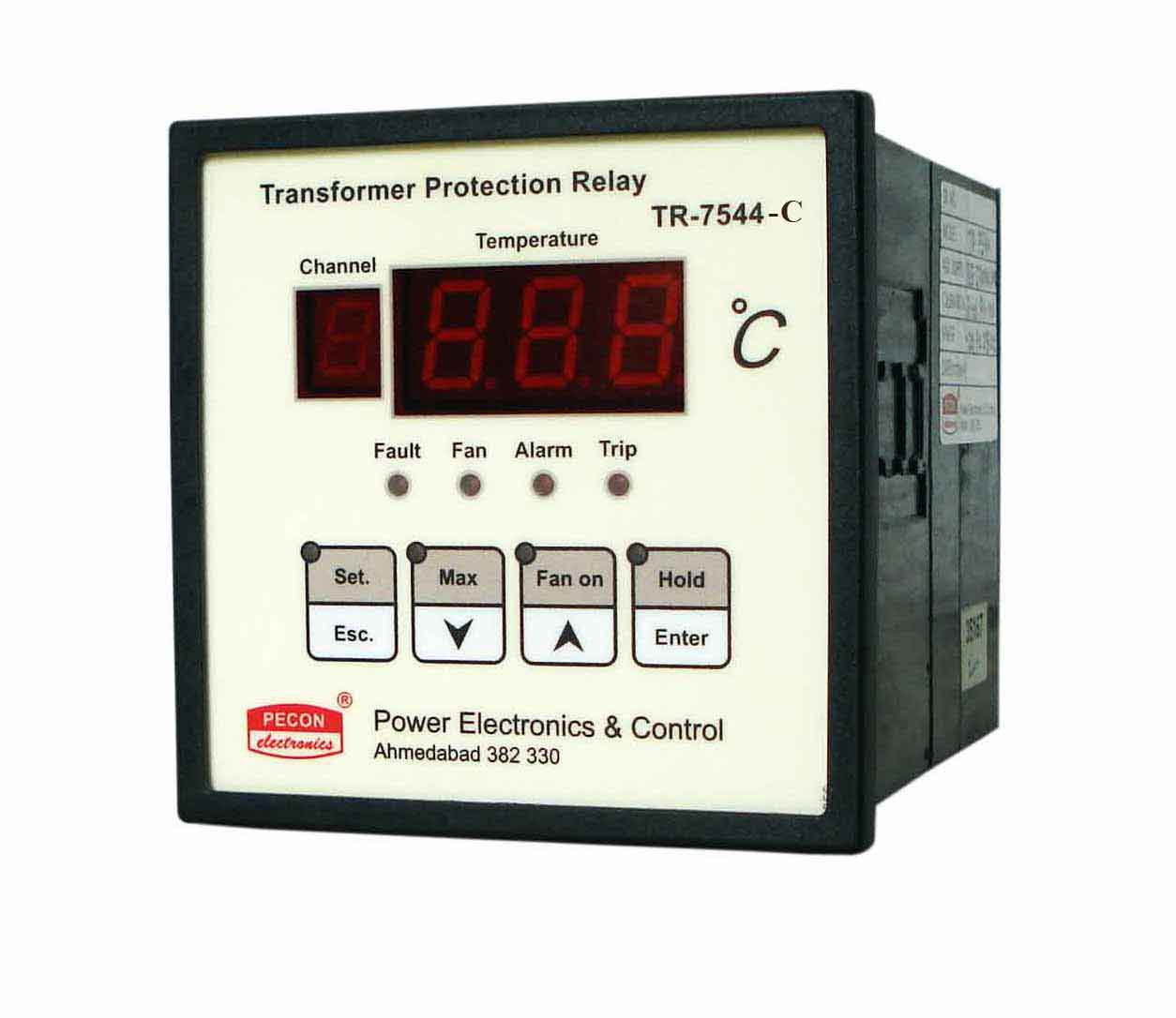 TR 7544 C four channel temperature scanner with RS485 remote output Transformer Protection Relay