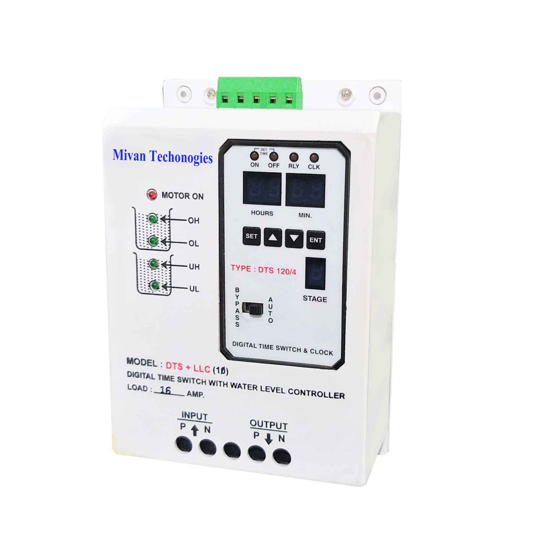 DTS LLC Water level controller with time switch with indicators for both tank