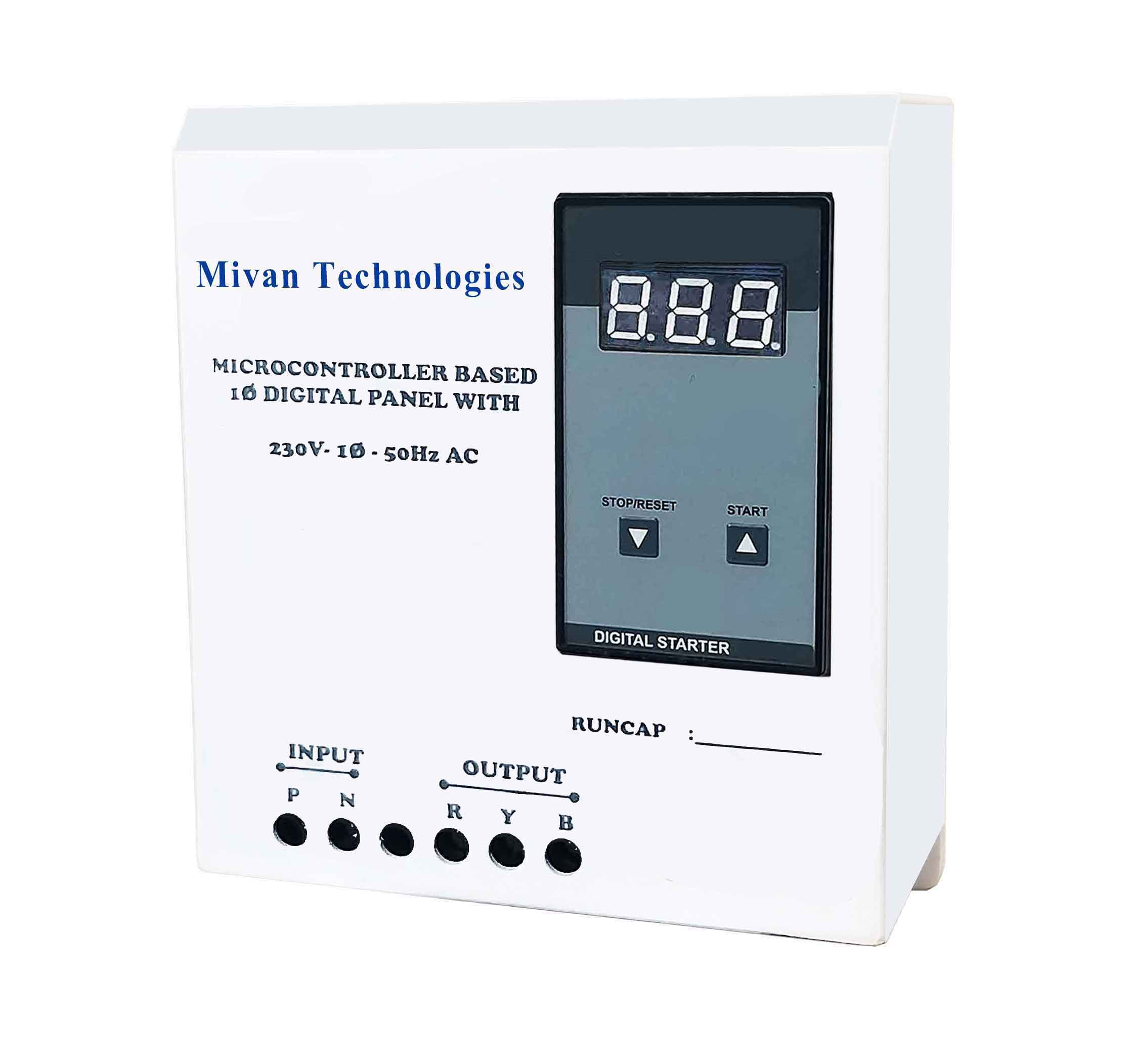 DVA R Single phase Digital starter panel with digital volt and amp miter